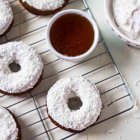 Gluten Free Carrot Cake Baked Donuts