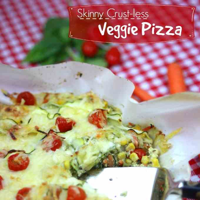 Skinny Crustless Cheese - Veggie Pizza Pie
