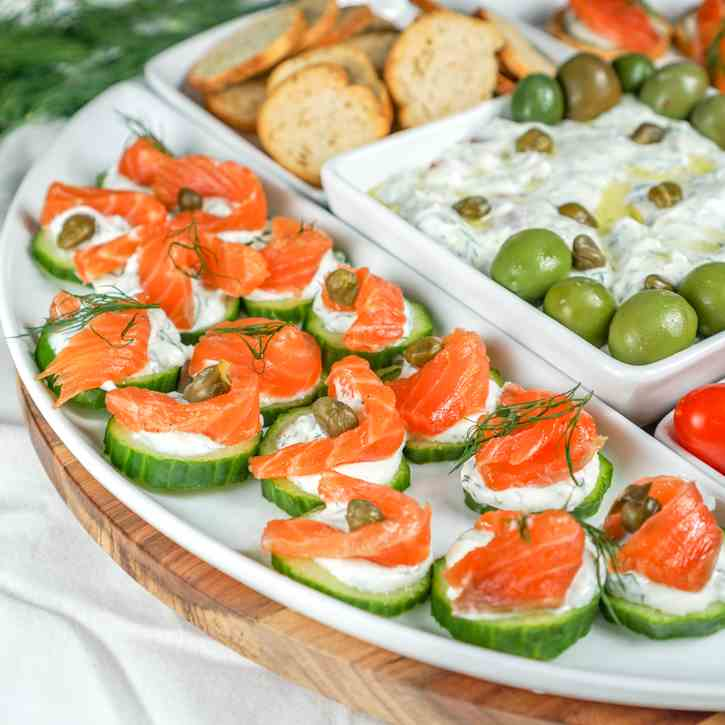 Lox Appetizer Platter with Dip
