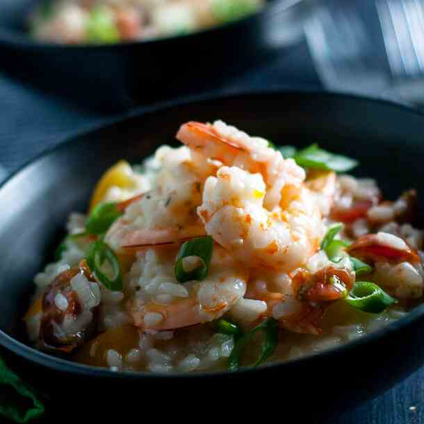 Garlic Prawn and Tomato Risotto