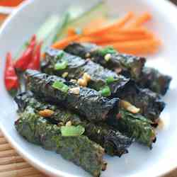 Grilled Beef Wrapped in Betel Leaves