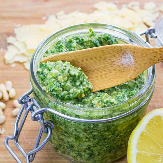 Rocket, Parmesan - Pine Nut Pesto