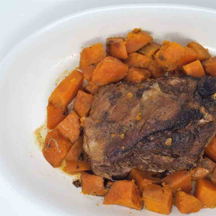 Slow Cooker Pork and Sweet Potatoes