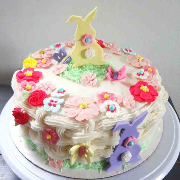 Easter Flower Basket Cake
