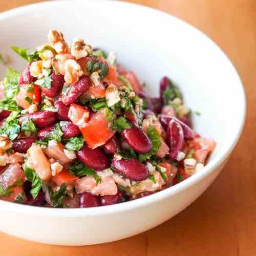 Vegan Tomato, Kidney Beans and Parsley Sal