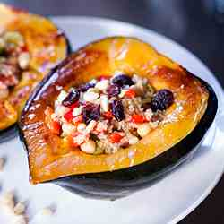 Delicious Stuffed Acorn Squash & Giveaway