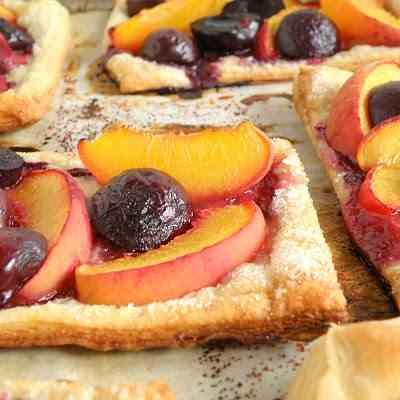 Peach & Cherry Tart