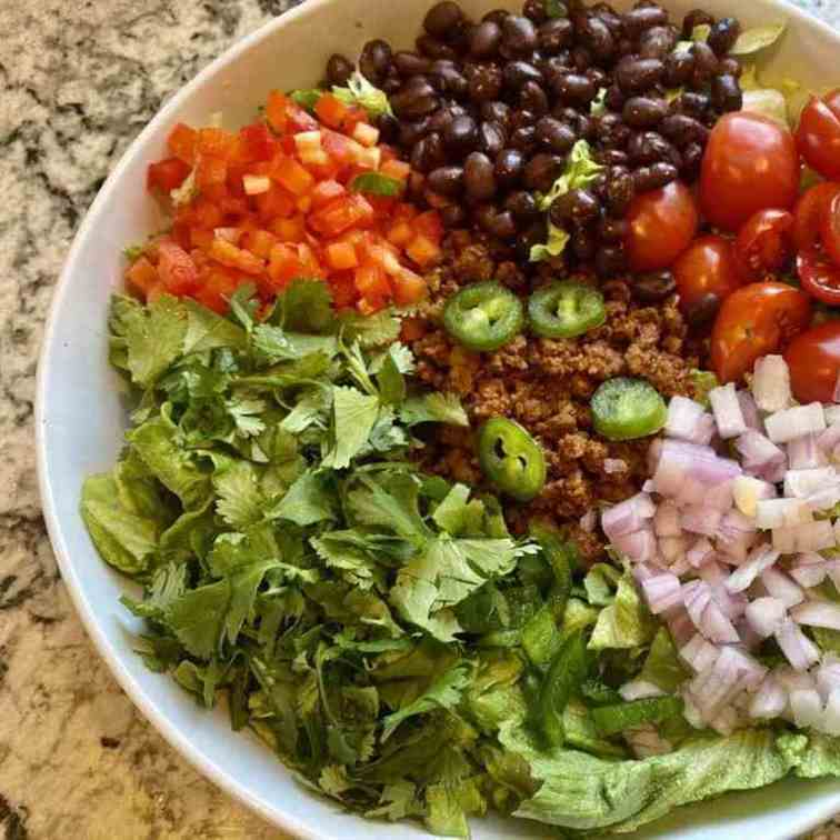 Vegan Taco Salad - Vegan Taco Salad Recipe