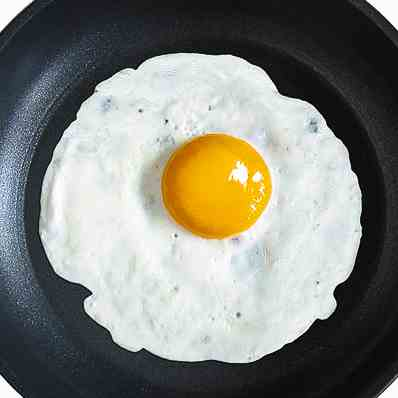 Healthy Coconut Oil Half Fried Eggs