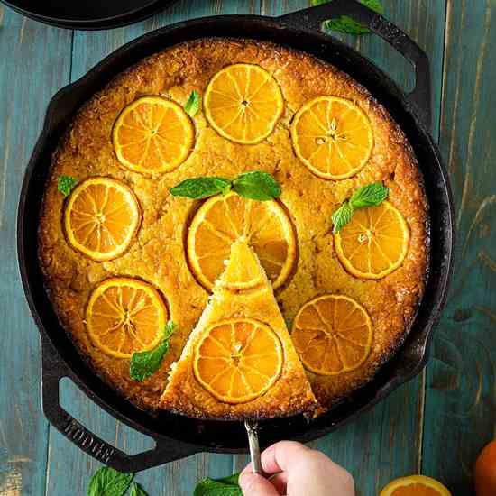 Greek Skillet Orange Fillo Cake