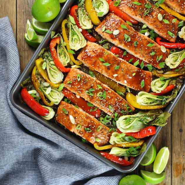 Honey-Lime Roasted Sheet Pan Salmon