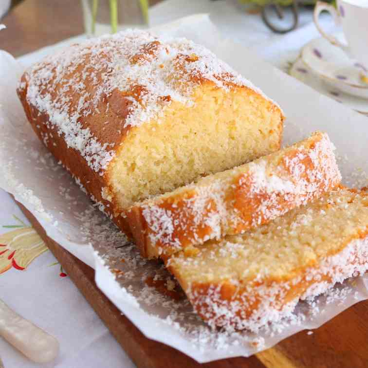 Lemon - coconut syrup loaf