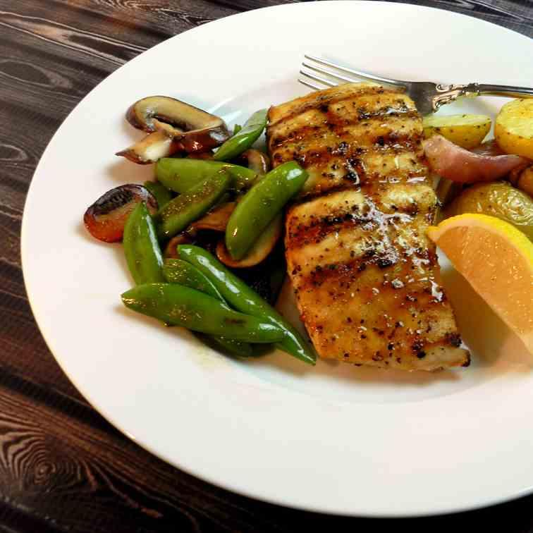 Grilled Cajun Red Snapper