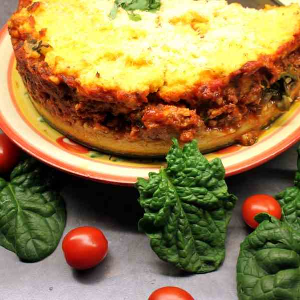 Polenta Cake with Sausage filling