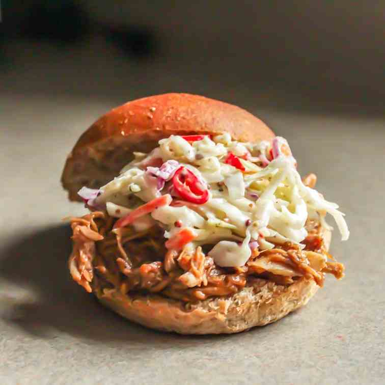Spicy Pulled Pork Sandwiches