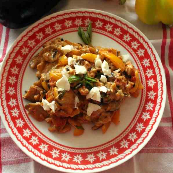 Mediterranean Vegetables with Feta Cheese