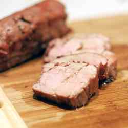 Grilled Maple-Mustard Pork Loin