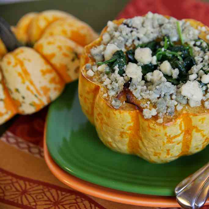 Winter Squash with Spinach and Gorgonzola