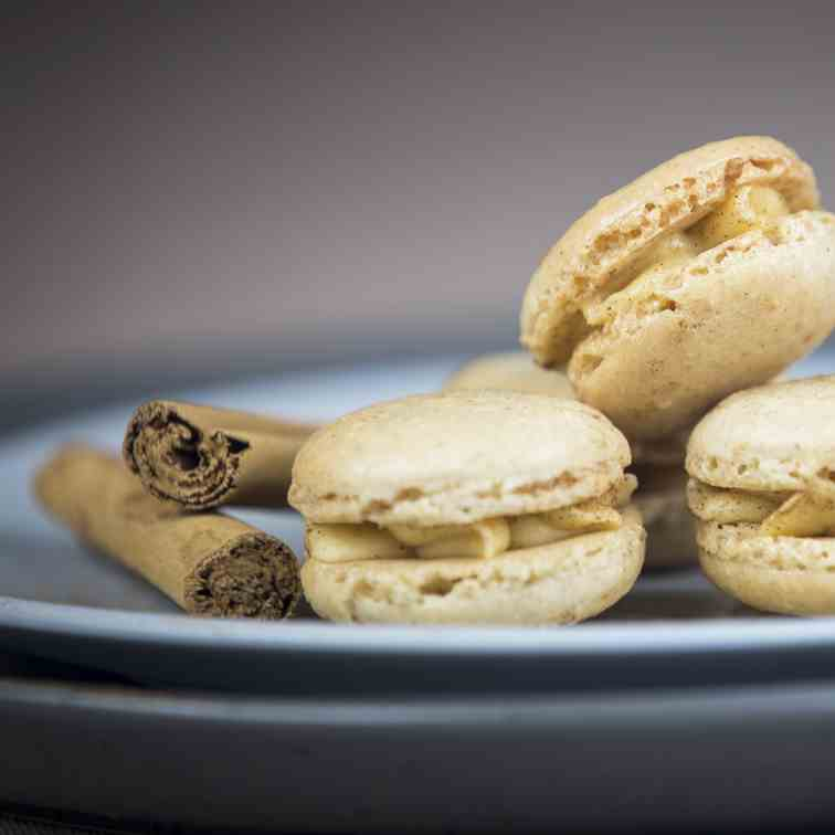 Gingerbread Macarons with Salted Caramel