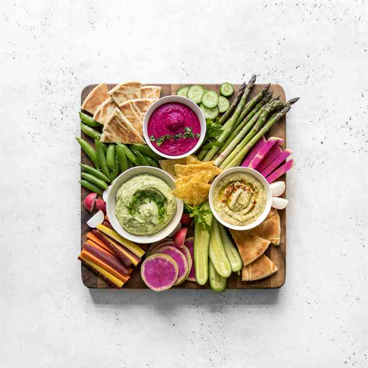 White Bean Dip 3 Ways