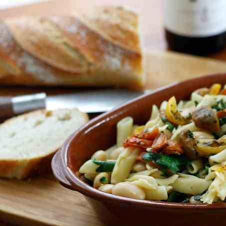 Pasta with Roasted Tomatoes - White Beans
