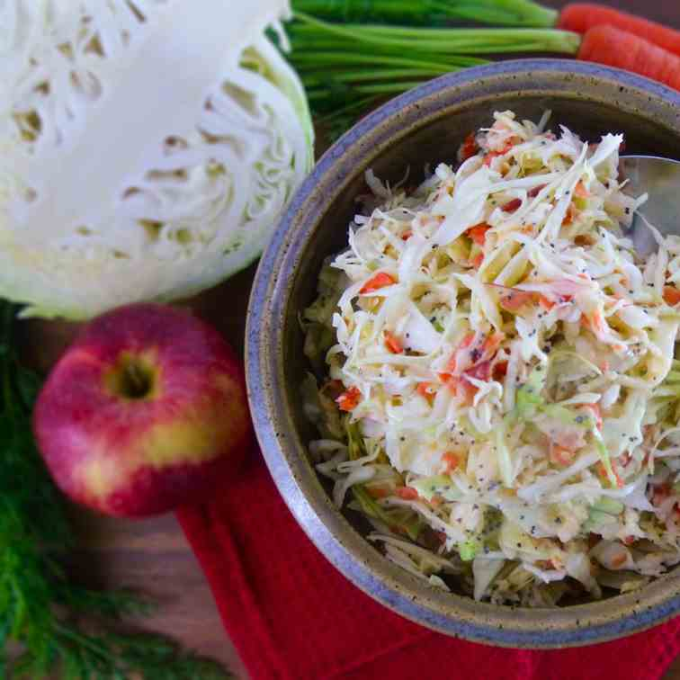 Tangy - Slightly Sweet Coleslaw
