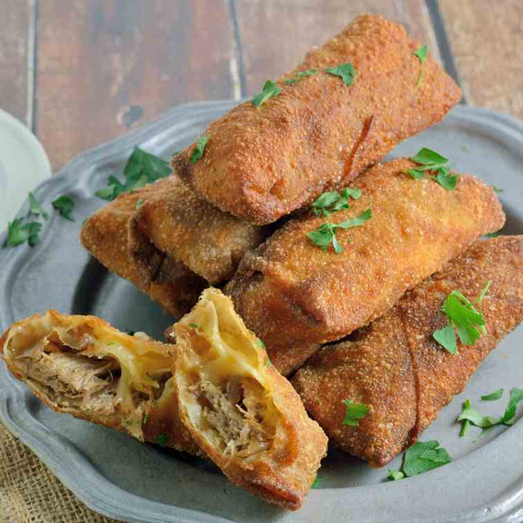 Pulled Pork and Smoked Gouda Egg Rolls