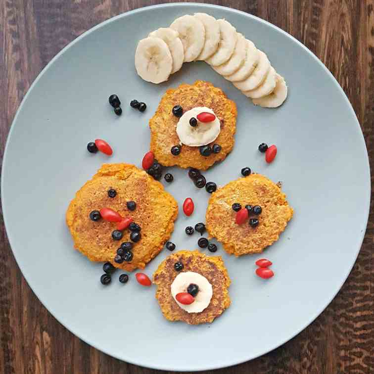 Carrot mini pancakes