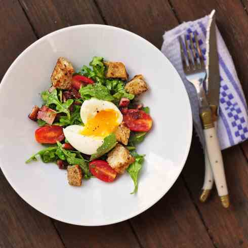 Deconstructed BLT with eggs
