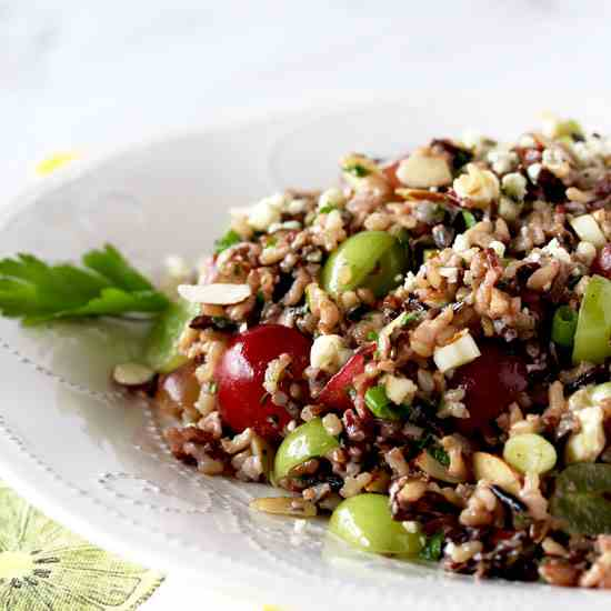 Wild Rice Salad with Miso Vinaigrette