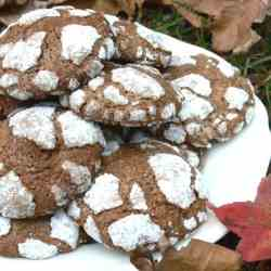 Striated chocolate and coffee cookies