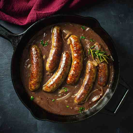 English Bangers and Mash Recipe