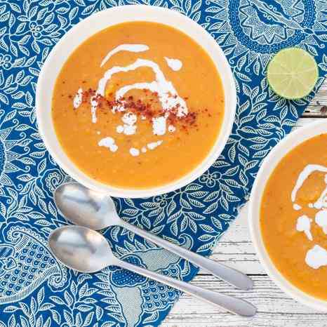 Thai-inspired butternut squash soup