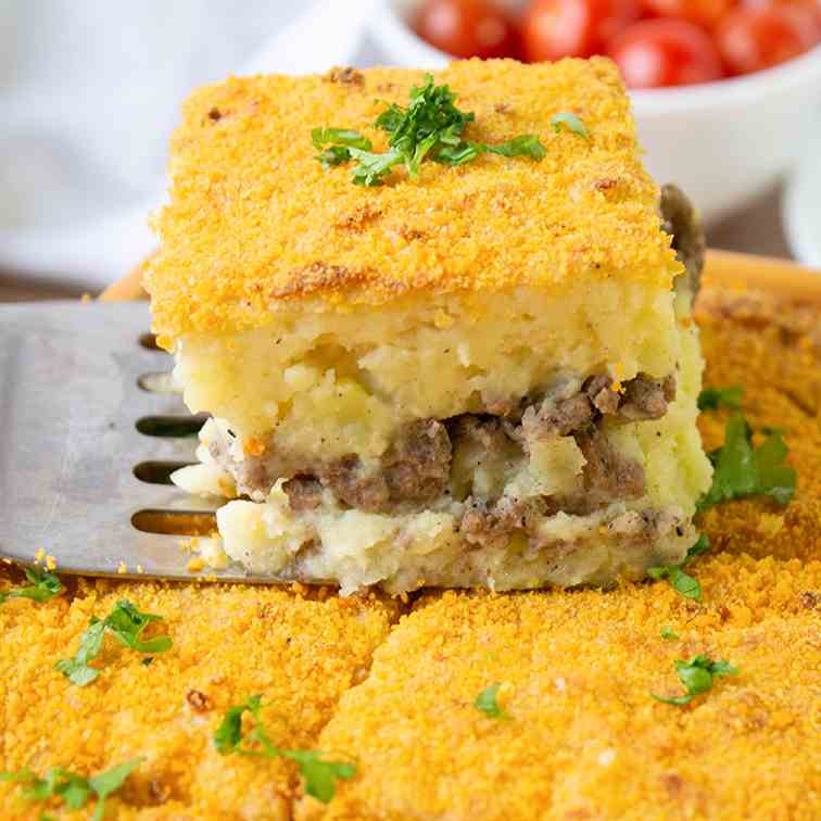 Beef And Mashed Potato Casserole