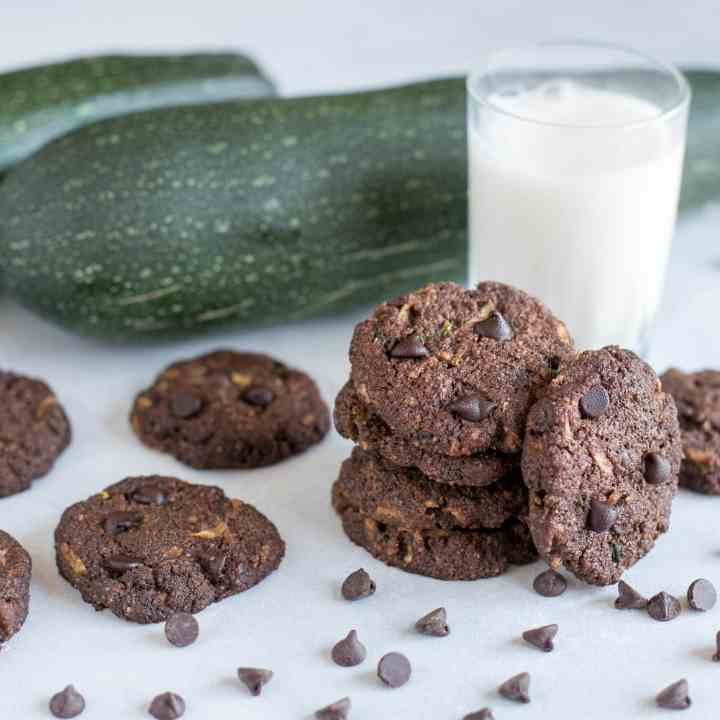 Healthy Chocolate Zucchini Cookies