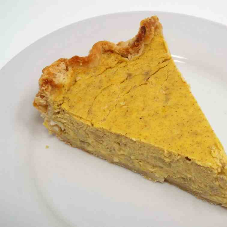Banana Sweetened Pumpkin Pie
