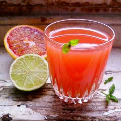 Blood Orange and Lime Ginger Zinger