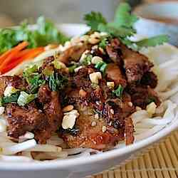 Vietnamese Grilled Pork over Vermicelli