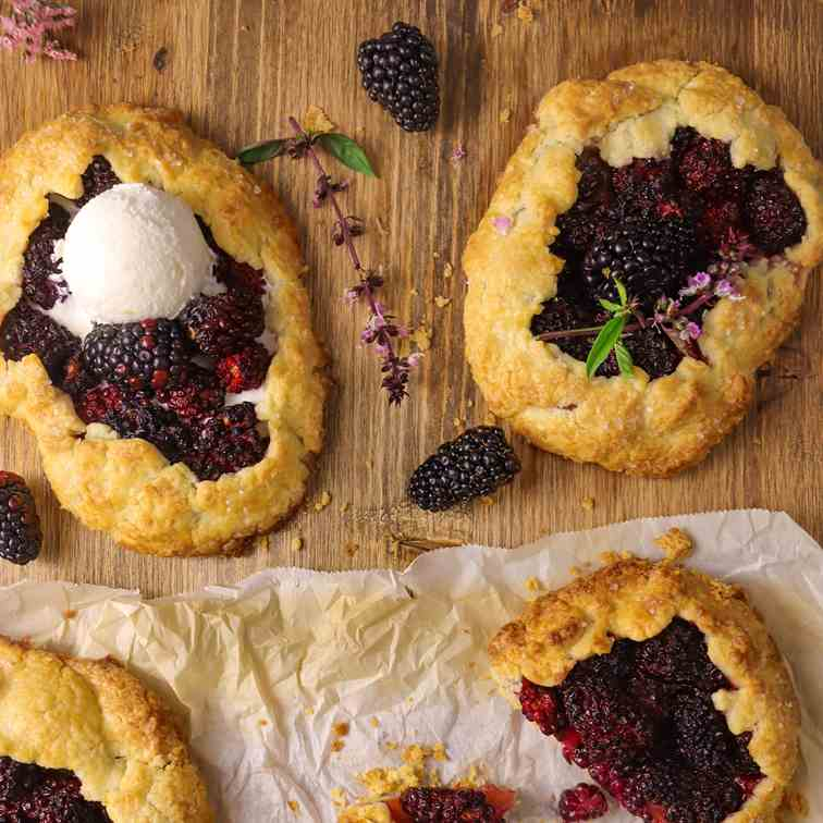Fresh Blackberry Galettes