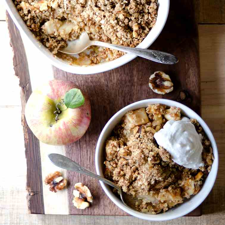 Sugar-Free, Gluten-Free Apple Crisp
