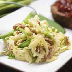 Kohlrabi, Apple and Bacon Slaw