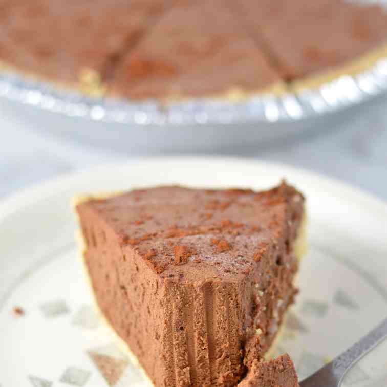 No Bake Chocolate Truffle Pie