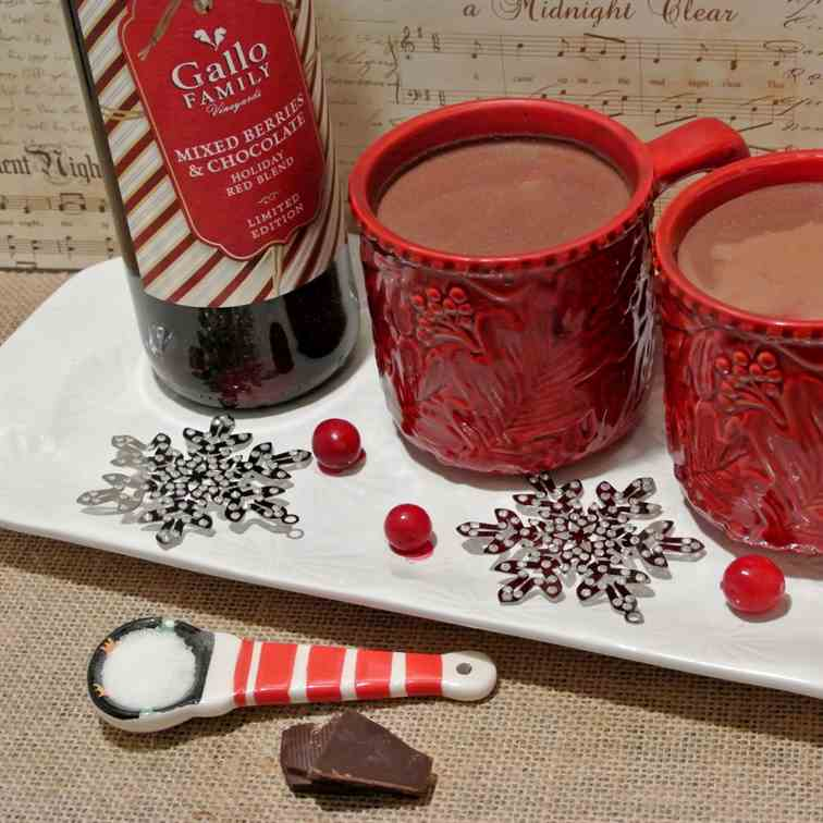 Mulled Red Wine Hot Cocoa