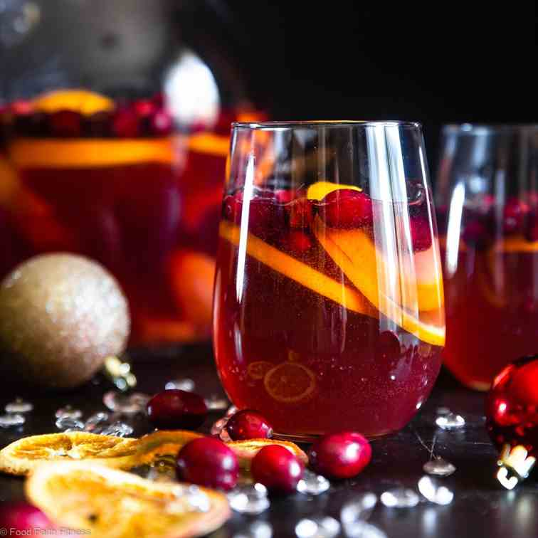 Sparkling Holiday Champagne Sangria