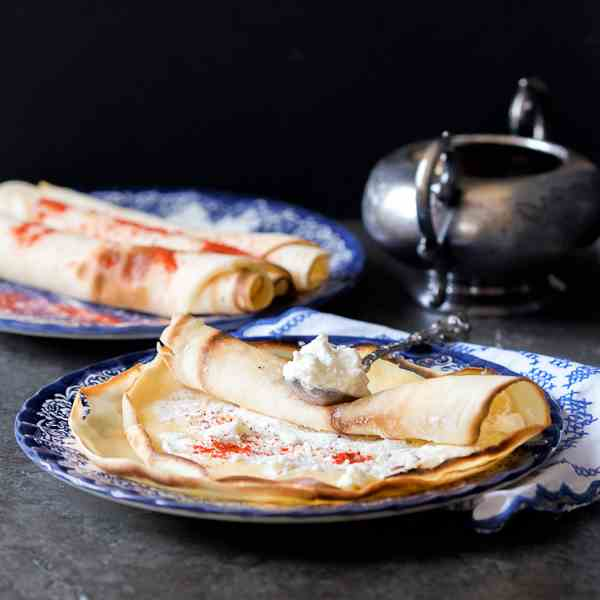 Crepes Filled With Goat Cheese