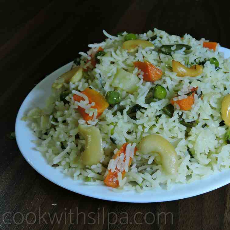 Veg pilaf recipe- vegetable pulao recipe