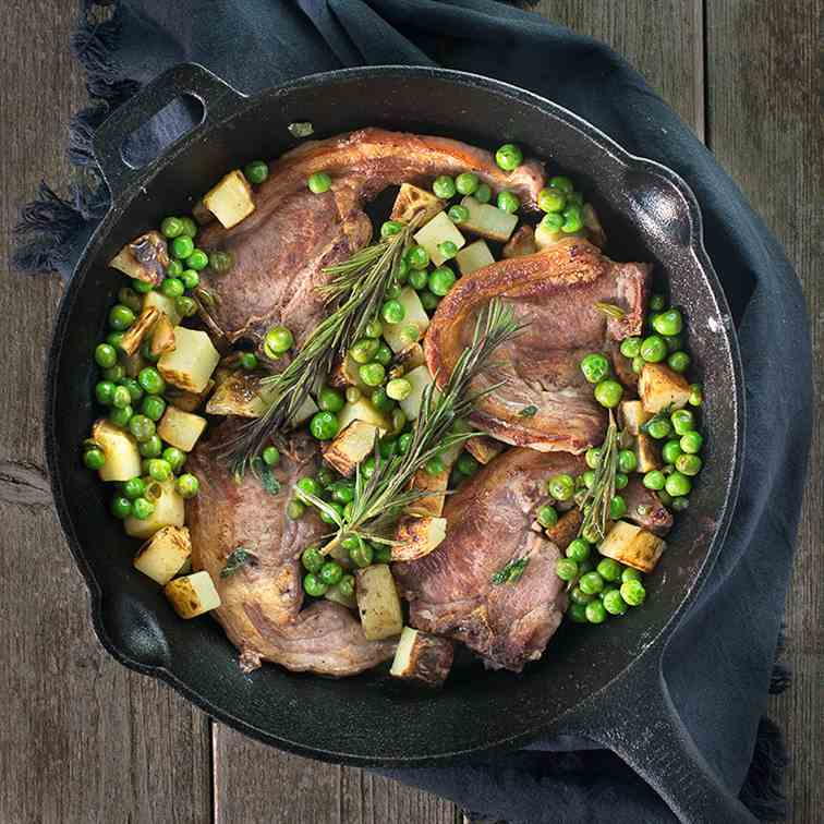 One-Pan Lamb Chops