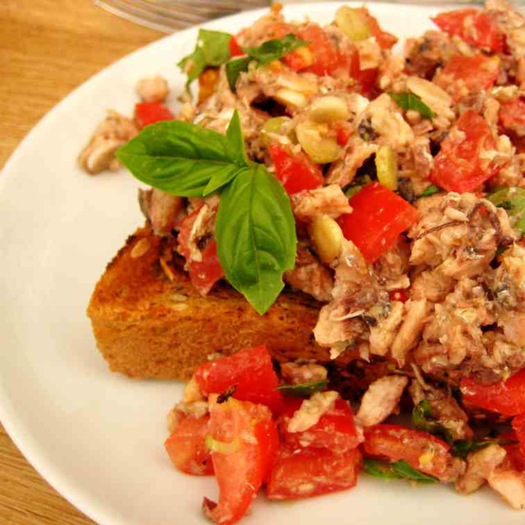 Chili Bruschetta with Tomatoes