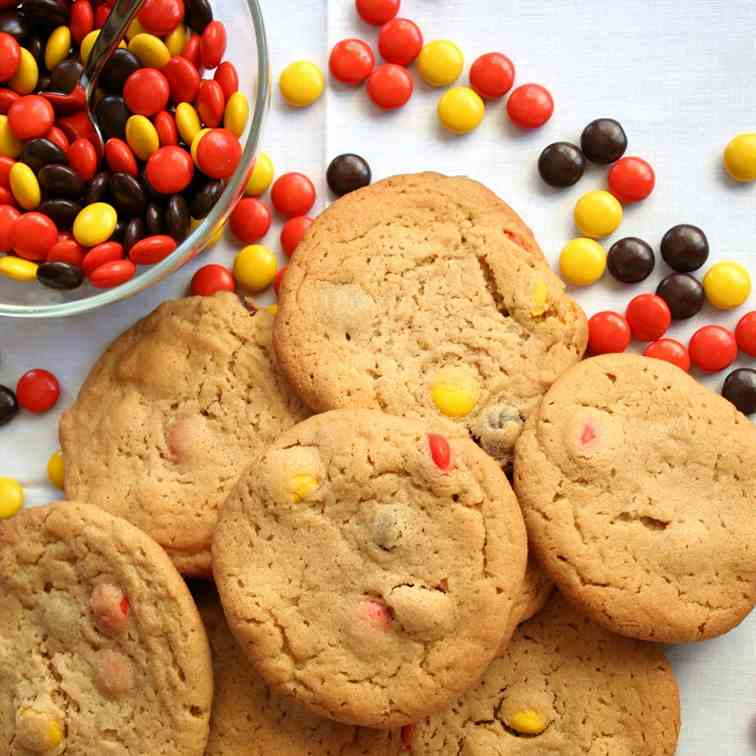 PB Reese's Pieces Cookies