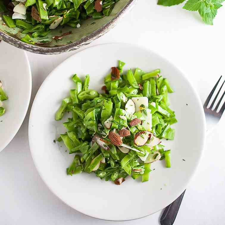 Minty Pea and Almond Salad